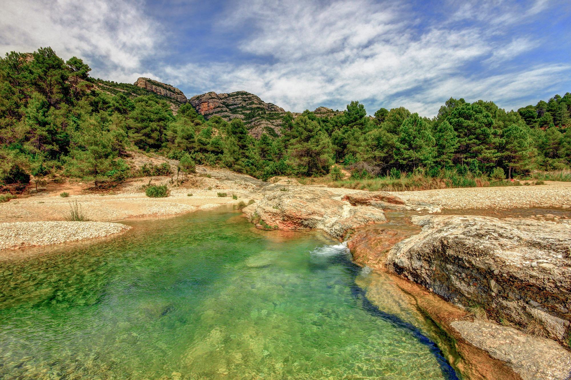 Las Pesqueras en el río Ulldemó de Beceite // © Jordi Ferrer Ber